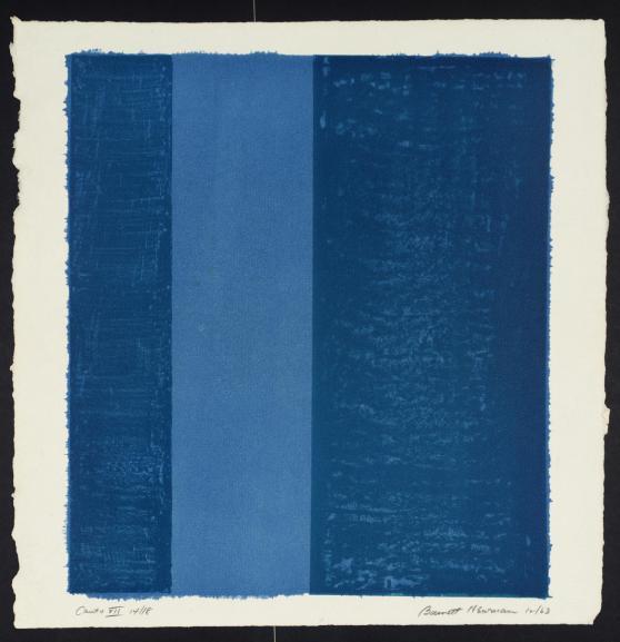 Canto VII 1963-4 by Barnett Newman 1905-1970